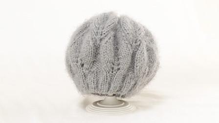 毛儿手作-叶子花帽子流年棒针帽子新手视频教程怎么织毛线编织法
