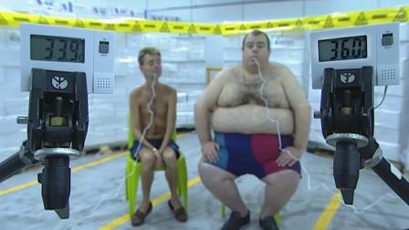 胖子真的比瘦子耐冻吗?美国小伙亲自试验,看完心疼瘦子!