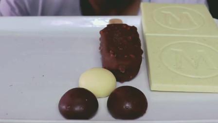 吃货小哥Allan, 吃巧克力、巧克力脆皮冰淇淋、巧克力脆皮冰淇淋