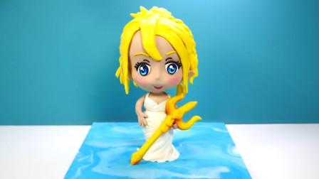 黄头发的迪士尼公主蛋糕做好了,她是你最爱的贝儿公主吗?