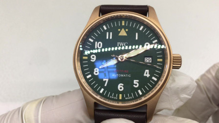 XF厂新款万国青铜喷火战机小尺寸复古腕表,外观报告