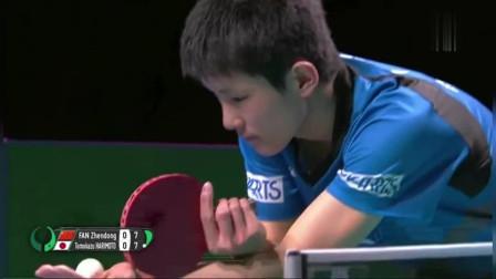 樊振东用暴力强攻告诉张本智和:学着点!你以前玩的叫少儿乒乓