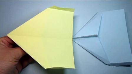 纸艺手工,三叉戟纸飞机的折法,简单的折纸飞机