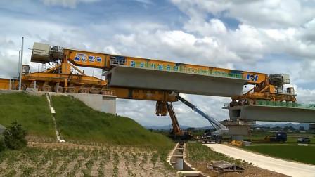 原来公路架桥是这样修的,真是长见识了,全靠这台大机器