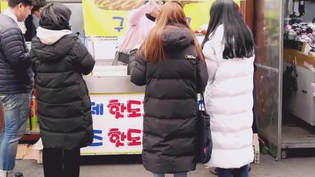 韩国街边美食, 网红拉丝芝士热狗