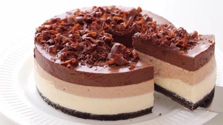 「烘焙教程」三层巧克力蛋糕,酥酥脆脆超级醇香