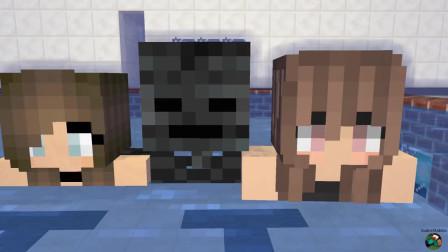 我的世界动画-怪物学院-游泳池挑战-kudosXkiddos