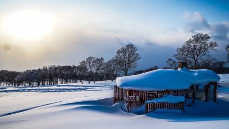 轻客旅行丨日本北海道全景航拍,蓝天白云山峰海洋与雪