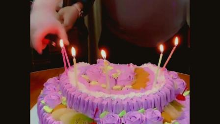 老婆过生日,周大闪电往她脸上抹蛋糕,没想到老婆竟干出这事!