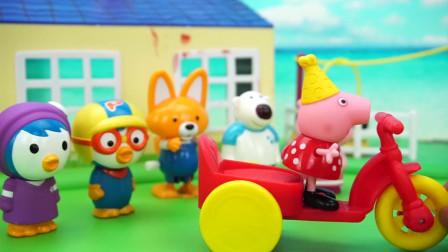 小伙伴们都去参观小猪佩奇的新房子