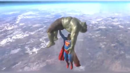 外国网站播放量一个亿的视频,最强复仇者绿巨人VS超人