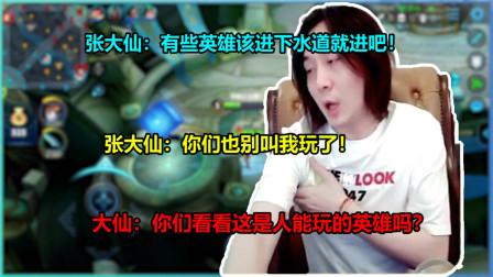 张大仙:你们不要再叫我玩这个英雄了 该进下水道的就让他进去吧…