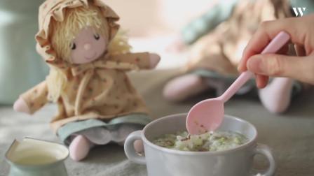 老婆的餐桌教你制作韩餐——给婴儿的牛肉西蓝花大米粥