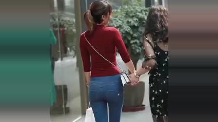 街拍:这是我见过穿紧身牛仔裤身材最好的美女,太迷人了