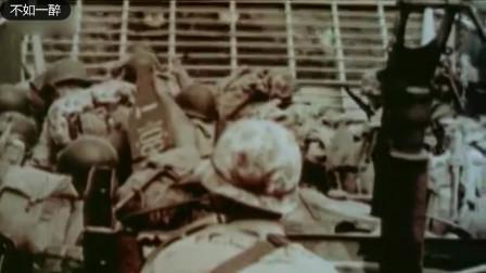 二战经典彩色纪录片抢滩登陆硫磺岛的死亡黑沙滩
