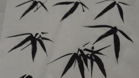 国画竹子基本画法:竹叶该怎么画?个字、介字、分字、人字的画法