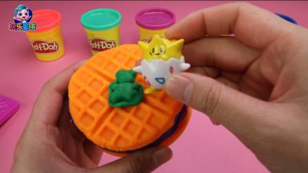 凯蒂猫模具制作彩泥华夫饼形状随你挑