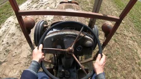 第一视角驾驶拖拉机,点火的那一刻才知道什么叫霸气!