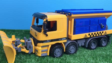 框框爸没见过的铲雪车 工厂玩具拆箱试玩 铲车玩具