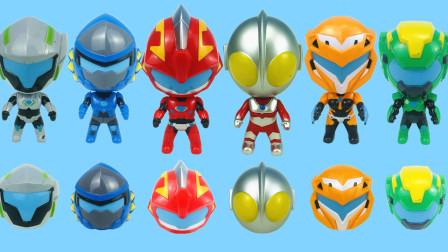 钢铁飞龙2奥特曼力量变形公仔玩具 六只变形公仔你最喜欢哪一只?