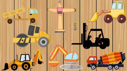 学习认识 压路机 塔吊 挖掘机 水泥搅拌车等工程车