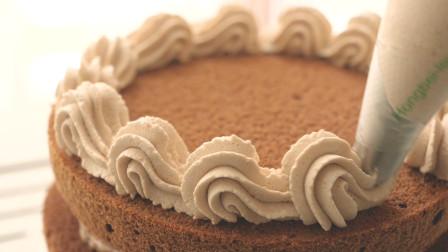 教你做美味的巧克力芒果蛋糕,有配方有步骤,3分钟就能学会