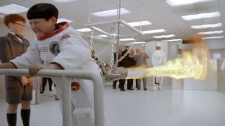 男孩天生屁量大,结果当上宇航员,一屁把火箭崩上了天,笑死了!