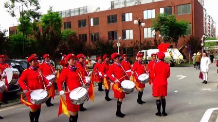 军鼓表演 志愿军战歌 武汉市春蕾女子军鼓队