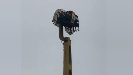 去游乐园玩转转中途停电不动了,网友:让你玩,这下爽了!
