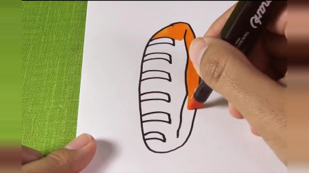 nini喜欢简笔画:看起来好好吃的毛毛虫面包,两分钟画好,简单好学