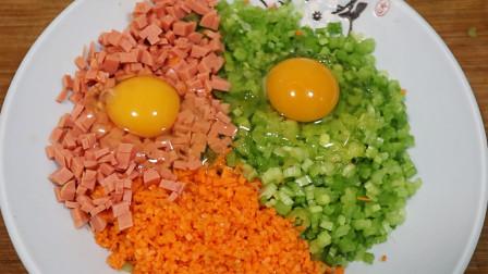 1把芹菜,1根胡萝卜,加2个鸡蛋,教你美味新做法,我家一周吃3次
