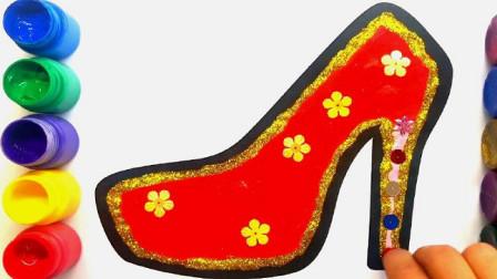 简易画教你怎么画高跟鞋,这配色也太美了吧!