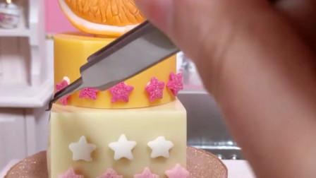 迷你食玩之橙子巧克力蛋糕,没有比这个更小巧精致的了