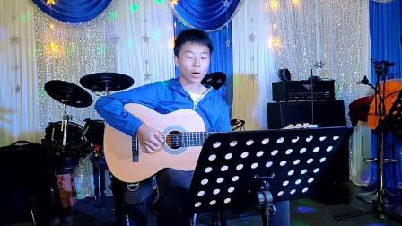 《兰花草》钟涛同学学习吉他弹唱视频