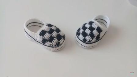 赞!用毛线编织一双时尚儿童鞋,竟比店里买的还好看(二)