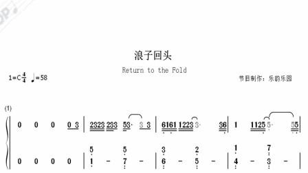 视听简谱《浪子回头》钢琴简谱弹奏版,台湾乐团茄子蛋演唱的《浪子回头》,一首闽南语歌曲但是却风靡全网!