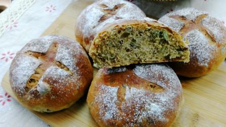 50%全麦面粉加液种法制作的全麦面包,口感一点也不粗糙