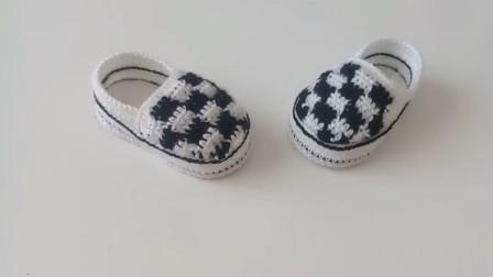原来毛线也可以编织出这么时尚的宝宝鞋,赶快动手学起来吧(三)