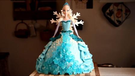 《冰雪奇缘》的艾莎女王蛋糕,这是我见过最美的,没有之一!