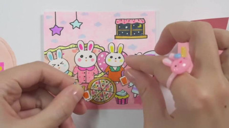 创意手工,四方盒内的4只小兔之家,兔子也得吃披萨