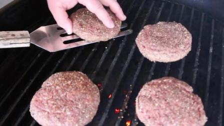 超大火腿牛排芝士夹心汉堡食谱!