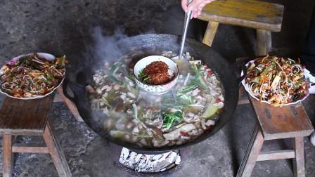 6斤猪肠花72块,这样煮一锅吃,喝着米酒真过瘾