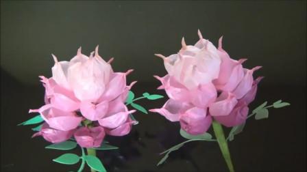 手工纸艺小妙招,立体芍药花的制作方法,栩栩如生,非常漂亮!