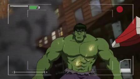 蜘蛛侠:绿巨人在市中心暴动,蜘蛛侠连忙拯救无辜市民