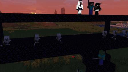 我的世界动画-挑战Herobrine军团-Kwbolt Animations