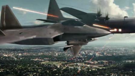 燃爆了!恐怖组织空中炮台火力全开 四挺加特林机枪秒掉F22战斗机