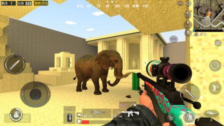 我的世界刺激战场 大象在干嘛呢