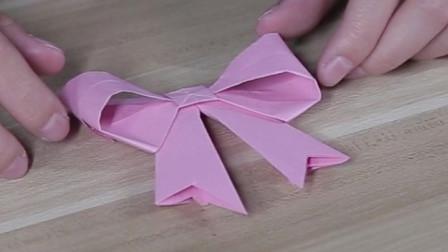 好看的蝴蝶结折纸,简单又漂亮,和我一起做一做吧