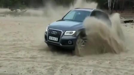 奥迪沙滩玩车,奥迪汽车的朋友有眼福了