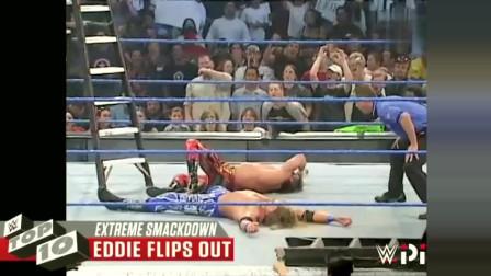 兰迪奥顿十大rko SmackDown节目十大极限瞬间 兰迪奥顿车顶释放RKO 杰夫高飞爆桌